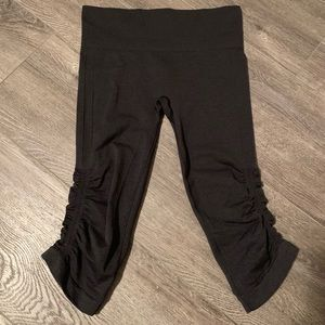 Lululemon Flow & Go Black Capri Pants